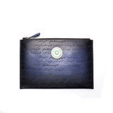 Blue rubbing handbag (inlaid with Emerald)